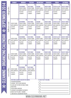Feel like you're drowning in trying to keep your house clean? Implement this proven method with the FREE printable Cleaning + Organizing Calendar for September!   Clean Mama