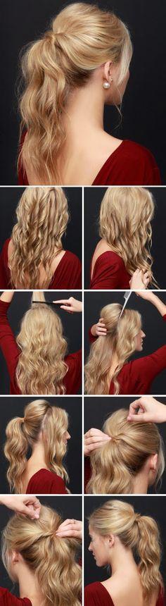 Night Party Ponytail Hairstyle Tutorial ~ Calgary, Edmonton, Toronto, Red Deer, Lethbridge, Canada Directory