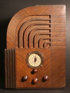 The radio.  (pictured is a Zenith Model 811 Art Deco Tombstone Radio from1935)