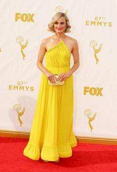 Pin for Later: The OITNB Stars Didn't Wear a Drop of Orange on the Emmys Red Carpet Taylor Schilling