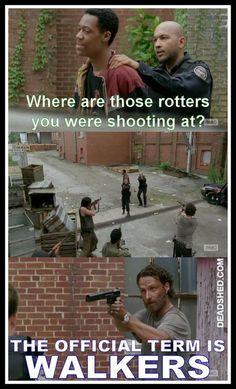 Walkers, not rotters! The Walking Dead season 5