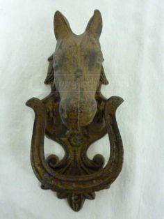 shopgoodwill.com: Vintage Equestrian Cast Metal Horse Door Knocker