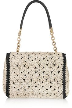 Daily Useful and Cool Crochet Bag Pattern Ideas - Page 48 of 60 - Beauty Crochet Patterns! Work Bags, Handmade Handbags, Crochet Handbags, Knitted Bags, Beautiful Crochet, Handbag Accessories, Crochet Lace, Hand Knitting, Purses And Bags