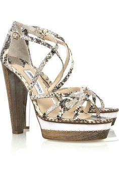 da2c2363ea3 JIMMY CHOO LONDON PYTHON CLEAR CHUNKY HEEL STILETTOS WITH GOLD SIZE 39 1 2-  · White SandalsJimmy ...