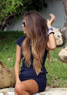Hair - really subtle ombre...me likey :)