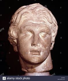 Download this stock image: Head of Alexander the Great of Macedon, found at Pergamon. Early 2nd cent. BC.  ©C M Dixon/AAA Collection - B10P45 from Alamy's library of millions of high resolution stock photos, illustrations and vectors.