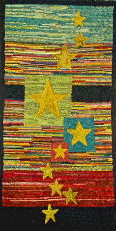 Hooked rug For Pattys by ThePreeningCrow on Etsy, $645.00