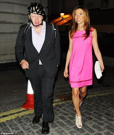 Letting the side down: Boris Johnson looks scruffy in comparison to his glam friend Heather Kerzner as they lave Loulou's in London; Hopefully Heather - the ex-wife of hotel billionaire Sol Kerzner - was getting a actual car ride home to her lavish home.; Heather has two children from her first marriage to American banker Charles Murphy.