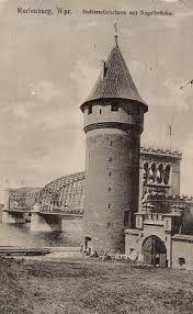 Znalezione obrazy dla zapytania stare zdjęcia mostu w Malborku