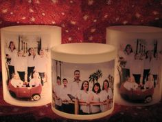 Photo embedded luminaries at designbycandlelightaz@gmail.com #candles#gifts