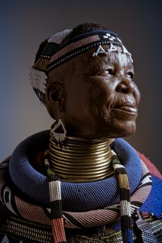 Africa | Esther Mahlangu an Ndebele woman from South Africa |