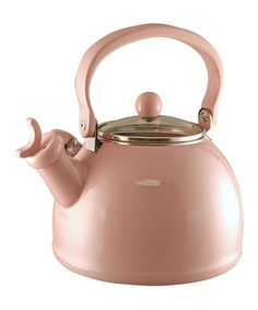 Love this Light Pink 2.2-Qt. Whistling Tea Kettle on #zulily! #zulilyfinds