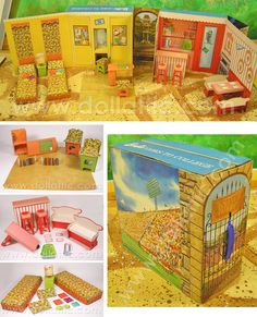 Who had #Barbie Goes to College? This one was my sister Michele's Barbie house and there is a drive in theater on the back of the soda shop.