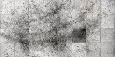 Subjektbeschleuniger   Eno Henze Laser drawing on 32 panels of photo-coated wood, 68 x 68 cm each. 2,80 m x 5,60 m total.