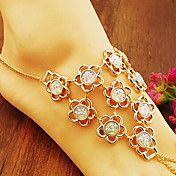 Vintage Diamanted Flower Shape Barefoot Scand... – CAD $ 6.34