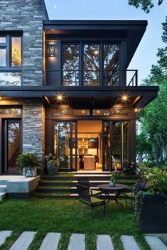 31 Amazing Contemporary House Exterior Design Ideas 31 Amazing C. - 31 Amazing Contemporary House Exterior Design Ideas 31 Amazing Contemporary House E - Dream Home Design, Modern House Design, Modern House Exteriors, Modern House Styles, Big Modern Houses, Modern Lake House, Casas Containers, Luxury Homes Dream Houses, Dream House Exterior