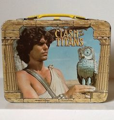 Vintage Metal King Seeley Thermos Lunchbox Clash of The Titans Movie 1980 Tin Lunch Boxes, Vintage Lunch Boxes, Metal Lunch Box, Vintage Tins, Vintage Metal, Metal Box, Mighty Joe, Clash Of The Titans, Sinbad
