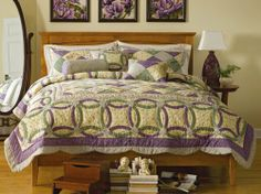 Jewel Rings Country Purple/ Sage/Cream Patchwork Quilt Purple King by Collections Etc by Mallory Lane. $69.97. Charming country patchwork quilt is designed with a mix of florals and patchwork in soft purple, sage green, cream and yellow. Cotton. Machine wash. Imported....