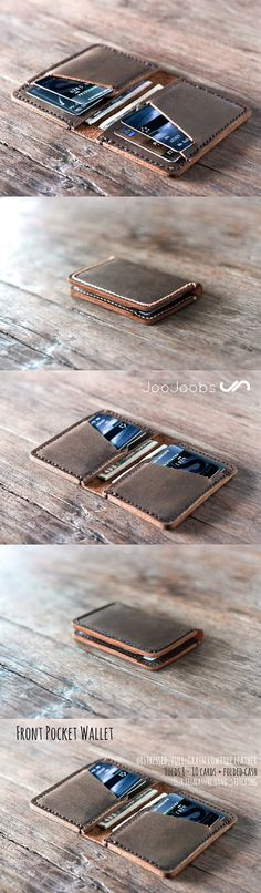 This leather wallet is handmade by the JooJoobs.com craftsmen. Its made from full grain distressed leather. Its designed to be a compact, credit card wallet. #JooJoobs #wallet #best #seller