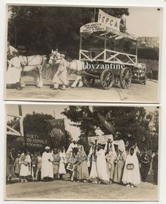 RSPCA British rp postcard c1930 st scene wagon / Car Fancy Dress Activists anti  animal cruelty for sale on ebay UK 10th July 2019 by 1byzantine Wagon Cars, Animal Cruelty, Activists, Vintage Postcards, Fancy Dress, Africa, British, Scene, Movie Posters