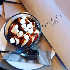 Gucci café, Little break @gucci #christmas #florence #dessert #italy