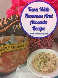 Tuna With Hummus and Avocado Recipe - www.kianaturally.com