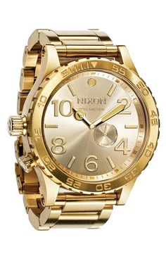 This shiny gold Nixon watch is perfect for Father's Day.