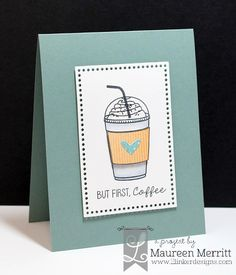 Maureen Merritt for Lil' Inker Designs June Release featuring Coffee Talk and the Dual Dotted Rectangle dies. Grandpa Birthday, Man Birthday, Birthday Cards, Coffee Talk, Coffee Love, Coffee Cup, Sympathy Cards, Greeting Cards, Diy Paper
