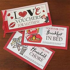 Personalized Vouchers Of Love - #7454