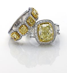 Shop our extensive selection of diamond engagement rings, wedding bands, and other jewelry online. See the Diamonds Direct Difference today! Art Deco Jewelry, Jewelry Gifts, Fine Jewelry, Jewelry Design, Paper Jewelry, Boho Jewelry, Jewlery, Beautiful Diamond Rings, Yellow Diamond Rings