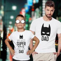 Family set t-shirt Super Hero Dad and Son matching by VivaMake