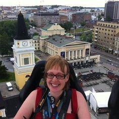 Mari Vesanummi kävin korkean tason juttukeikalla Keskustorilla. Tampere