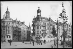 Germany at the end of the century / before WWII (historical photos) Neoclassical Architecture, Vintage Architecture, Classic Architecture, Historical Architecture, Beautiful Architecture, Danzig, Visit Germany, Interesting Buildings, Old Postcards