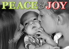 Christmas card peace& joy photo card with printed back, colors can be adjusted. https://www.etsy.com/listing/210547834/m-and-m-christmas-poem-35x5-card-u-print?ref=shop_home_active_3