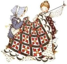 Holly Hobbie Sewing a Quilt :)
