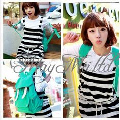 Women Girl Casual Canvas Shoulder Backpack School Bag Satchel Bookbag Fashion W | eBay