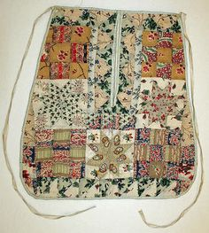 19th century sewing pocket from the Metropolitan Museum