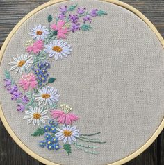 art of silk ribbon embroidery Simple Hand Embroidery Patterns, Hand Embroidery Videos, Embroidery Flowers Pattern, Embroidery Works, Creative Embroidery, Hand Embroidery Stitches, Embroidery Hoop Art, Crewel Embroidery, Embroidery Techniques