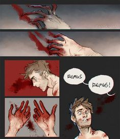 full moons are hard (part - Modern Harry Potter Comics, Harry Potter Artwork, Harry Potter Books, Harry Potter Universal, Harry Potter Fandom, Harry Potter World, Harry Potter Memes, Remus And Sirius, Remus Lupin