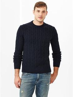 Lambswool cable knit sweater   Gap