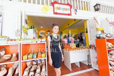 Smiling shop owner, Thailand Royalty Free Stock Photo