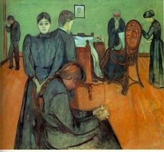The Athenaeum - Death in the Sickroom (1893) (Edvard Munch - )
