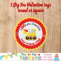 This listing is for VALENTINE TRUCK favour tags/stickers. This is a digital file that you print yourself and will be sent to you in PDF format. Perfect Party, Favor Tags, All Design, Party Invitations, Party Supplies, Favors, Handmade Items, Truck, Etsy Shop