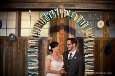 Wedding arch made of books