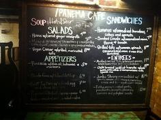 Ipanema Cafe Lunch and Dinner Menu - Richmond, Virginia Great ideas for vegan/vegetarian meals