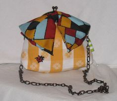 EmilyYellow Plaid Picnic  Bag by fancibags by fancibags on Etsy, $55.00