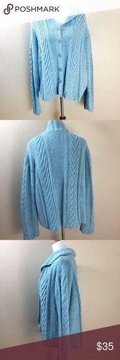 NWT J. Jill Soft Button Down Cardigan Sweater XL So soft and cozy this sweater by J. Jill is brand new with tags Size XL Soft Turquoise color J. Jill Sweaters Cardigans