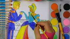 Barbie and Ken Watercolor / Learning Colors with watercolor for Preschoo...