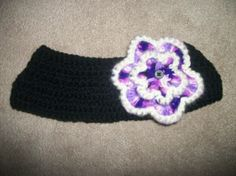 Crochet headband/ear warmer with removable flowers by SiennaSews, $12.99