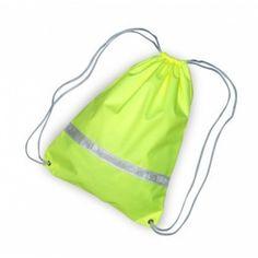 batoh reflexní žlutý Drawstring Backpack, Backpacks, Sport, Bags, Fashion, Handbags, Moda, Deporte, Fashion Styles